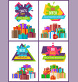 price labels set premium quality hot sale posters vector image
