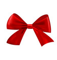 realistic christmas red bow isolated on white vector image