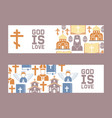religion catholic church or cathedral vector image vector image