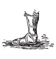 sandal is a kind of shoe consisting vintage vector image vector image