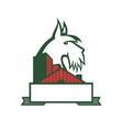 scottish terrier tartan building mascot vector image vector image