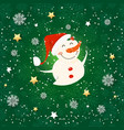 seamless pattern with snowman holiday wallpaper vector image