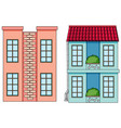 set flat building vector image