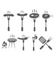 set of grill icon symbol vector image vector image