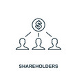 shareholders outline icon thin line element from vector image vector image