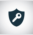 shield key icon for web and ui on white background vector image vector image