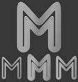 Silver line m logo design set vector image vector image