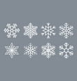 snow icon paper snowflake for christmas white vector image vector image