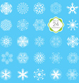 snowflakes set various designs symmetrical snow vector image vector image