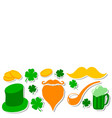 st patricks day set design vector image
