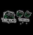 tactics army mascot logo design vector image