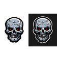 the metal skull of the robot two versions vector image vector image