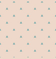tile pattern with mint green triangles on pastel vector image