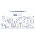 Training Courses and Education Doodle Concept vector image vector image