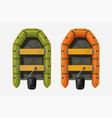 two inflatable boats top view on white vector image vector image