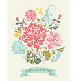 Vintage Greeting Card with Decorative Flowers vector image