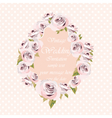 Watercolor pink Roses Flowers frame vector image vector image