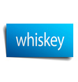 whiskey blue paper sign isolated on white vector image vector image
