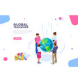 world flat isometric vector image vector image