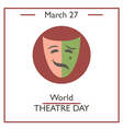 World Theatre Day vector image
