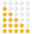 yellow shiny rating stars vector image vector image