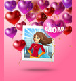 young super mom background vector image vector image