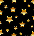 Background with golden stars vector image