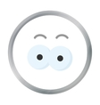 Eyes cartoon icon for web and mobile vector image