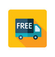 free shipping icon vector image