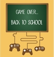 game over back to school vector image