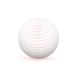3d sphere with texture ball isolated on white vector image vector image