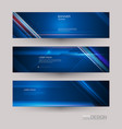 abstract banners set with image of speed movement vector image vector image
