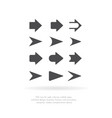 arrows collection for your web site design logo vector image vector image
