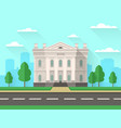 bank building government house with columns vector image vector image