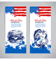 Banners of 4th July backgrounds with American flag