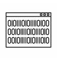 Binary code icon outline style vector image vector image