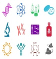 Biology science icons vector image vector image