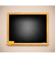 Black Chalkboard on Light Brown Wall vector image vector image