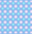 blue pattern with pink and blue glowing circles vector image vector image
