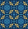 blue seamless pattern oriental design vector image vector image