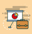 business briefcase board presentation chart office vector image vector image