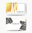 business card tempates vector image vector image