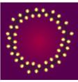christmas or holidays lights or casino light bulbs vector image vector image