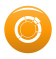 circle chart icon orange vector image vector image