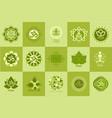 collection yoga studio logos design template vector image