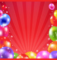 color balloon card vector image vector image