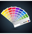 Color palette guide Catalogue cards vector image vector image
