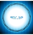 Colourful blue design vector image vector image