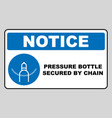 compressed gas sign design isolated on vector image