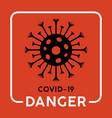 coronavirus warning icon vector image
